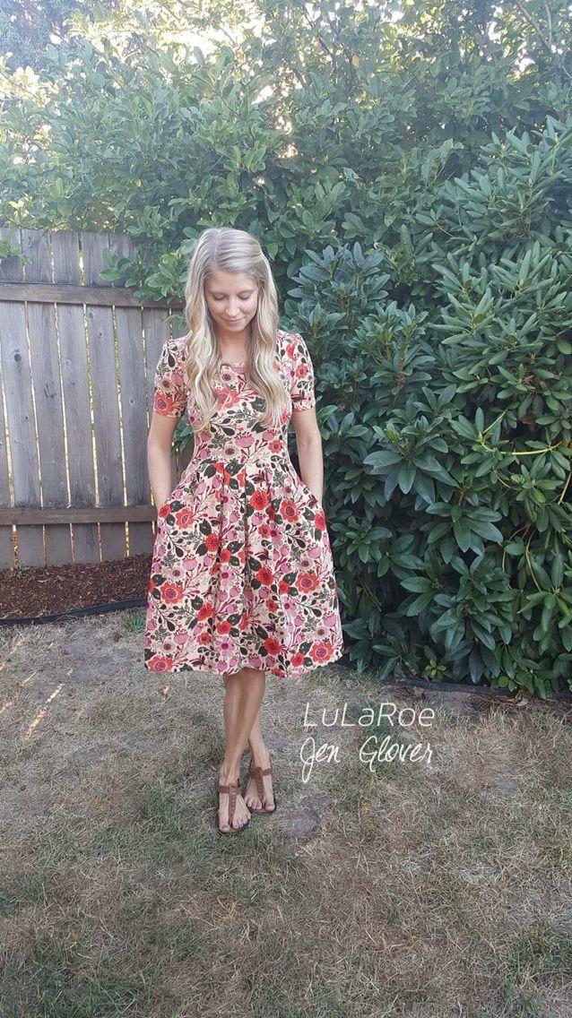 LuLaRoe floral Amelia dress. LuLaRoe Jen Glover