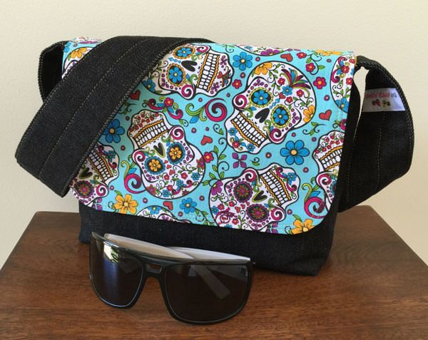 Good-To-Go Messenger Bag - free pattern by Andrie Designs bag patterns  Paper and PDF bag patterns  Handmade bags  Free bag pattern