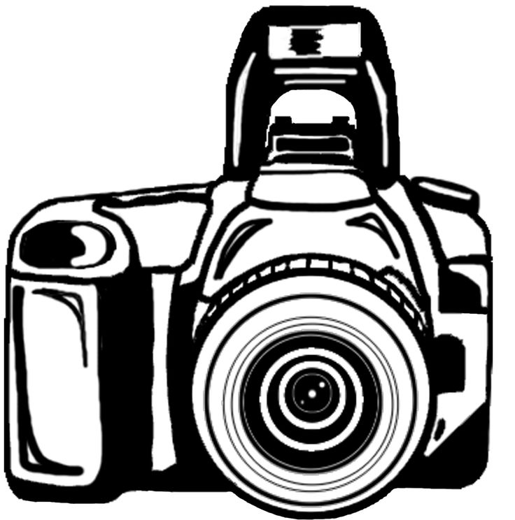 This image is a black and white photograph of an old-fashioned camera.