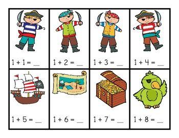 Pirate-Addition-Math-Work-Station-176683 Teaching Resources - TeachersPayTeachers.com