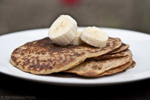 Clean Eating Banana Pancakes (more flour or less liquid if using almond flour)