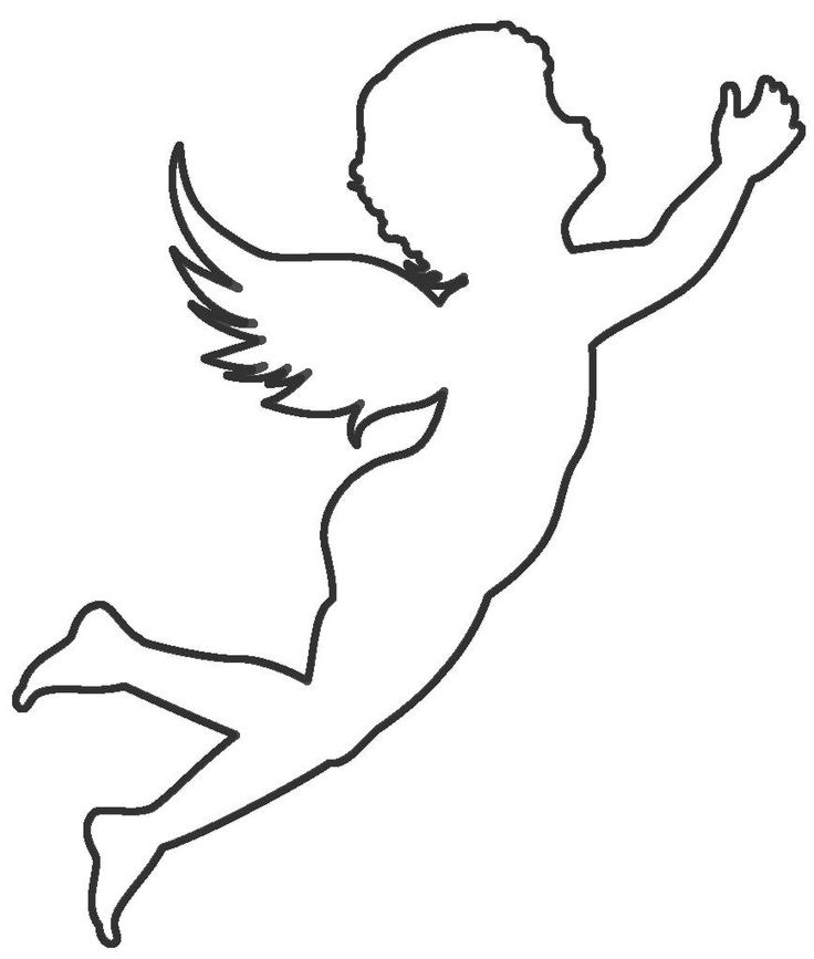 Контур ангел картинки