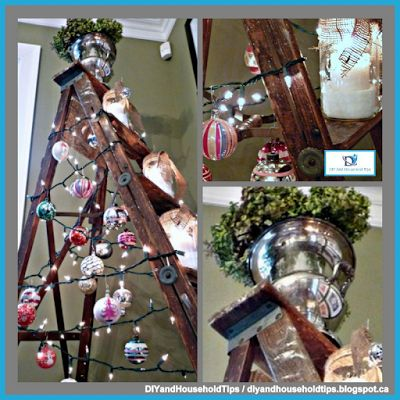 DIY And Household Tips: Ladder Christmas Tree