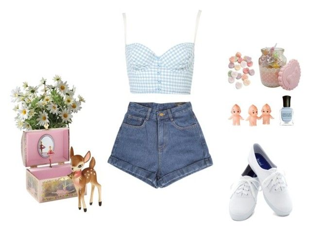 """Sem título"" by paloma-duarte-s ❤ liked on Polyvore featuring Schylling, Keds and Deborah Lippmann"