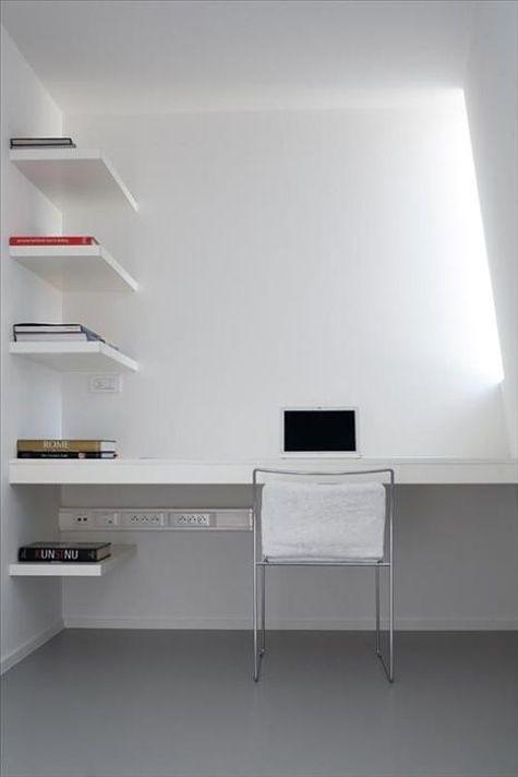 desk. shelves. electrical.