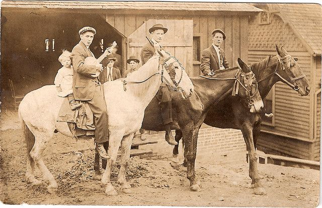 Moser's,                                                          Guns, Banjo's,                                                          and Mules at                                                          the                                                          Liverystable                                                          in East                                                          Tennessee                                                          around 1890: