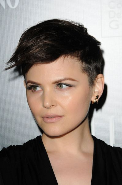 Ginnifer Goodwin wears her short hair in a punky style