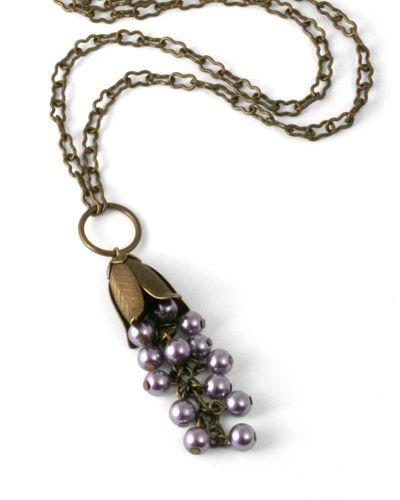 jess italia lincoln jewelry   N0542 - Pearl Cluster - Designer: Jess Italia Lincoln