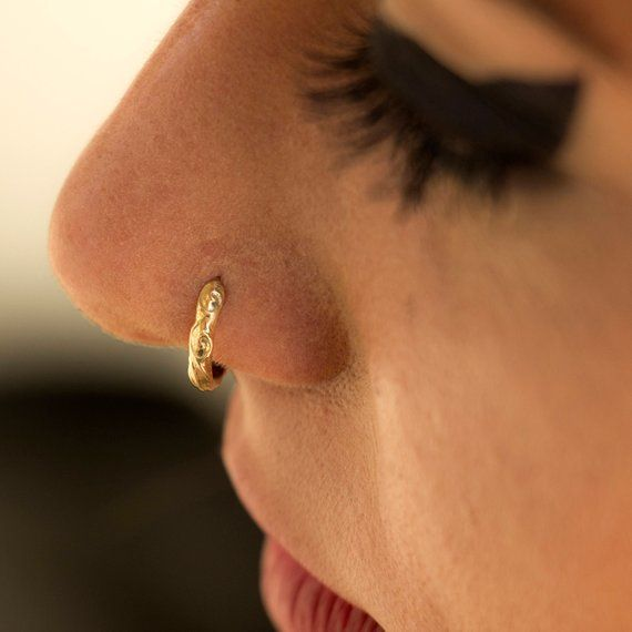 Pin On Nose Ring
