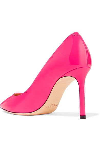 Jimmy Choo - Romy Patent-leather Pumps - Bright pink - IT36.5