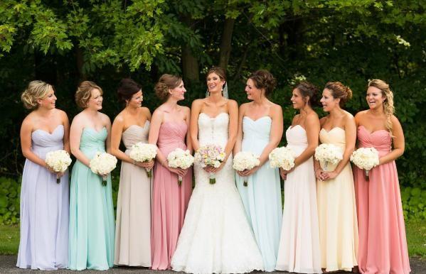 vestidos de madrinhas em tons pasteis - Pesquisa Google