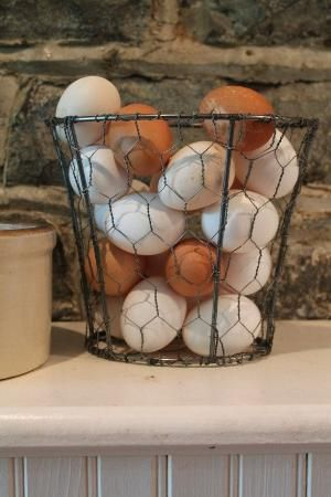 Upcycled Lamp Shade - Chicken Wire Basket - Country Decor - very clever by lucille