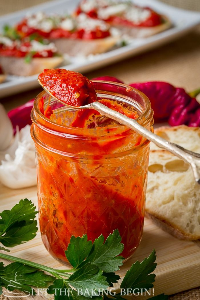 Spicy roasted pepper dip