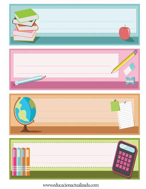 Educación Preescolar: Letreros de regalo (imágenes en tamaño carta)