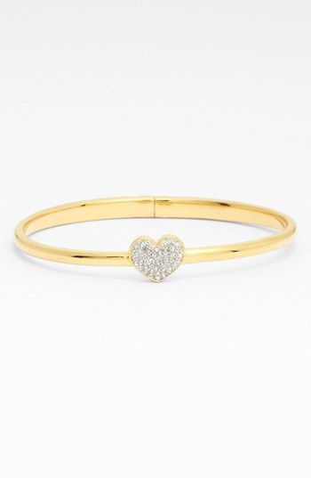 Nadri 'Charmers' Pavé Symbol Hinged Bangle (Nordstrom Exclusive)