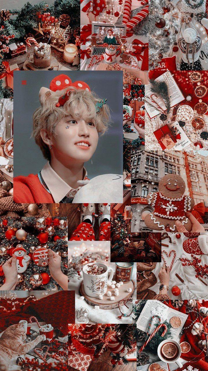 Parkedits Aesthetic Jisung Stray Kids Christmas Kids Christmas Kids Wallpaper Kids Christmas Canvas