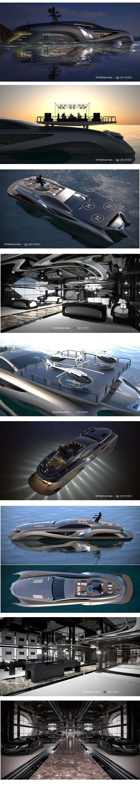 Concept Superyacht Xhibitionist by Gray Design.