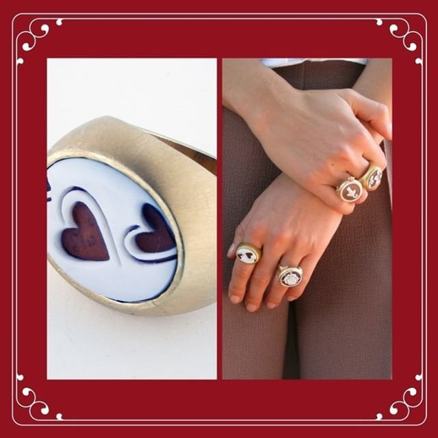 Change the world with the love! 💕    #donadiojewelry #cameojewelry #ring #valentinesday