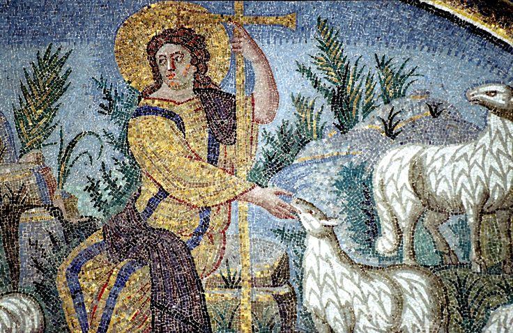 Mausoleo di Galla Placidia, Ravenna, i mosaici, intorno a metà del V secolo. Buon Pastore