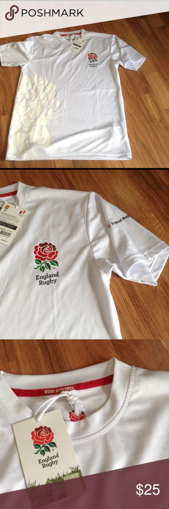 England Rugby Jersey Men's M NWT England Rugby Jersey Men's M NWT England Rugby Shirts Tees - Short Sleeve