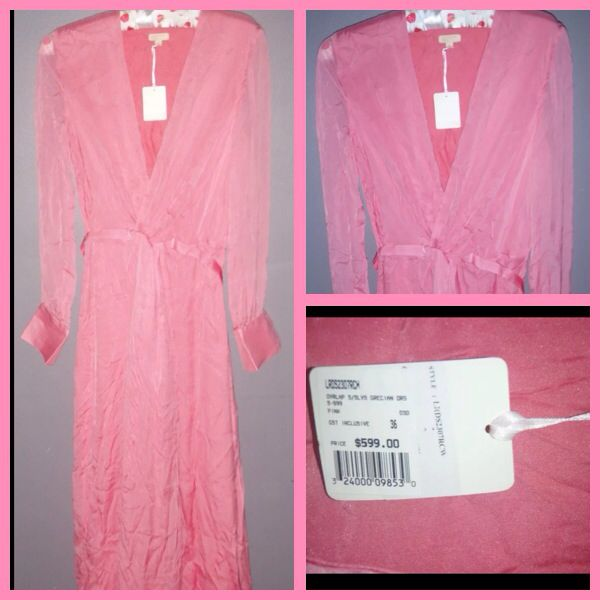 Raoul Silk Maxi Dress Size 8  New with tags  Paid $600 Sell $300