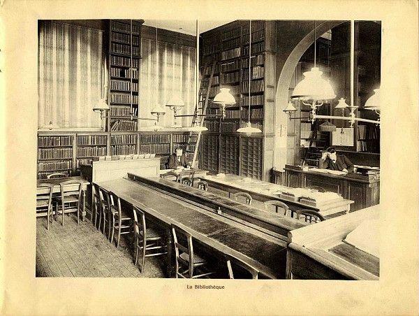 Paris, Claude Bernard : La bibliothèque ancienne, lithographie /  ©Pôle Images - AgroParisTech