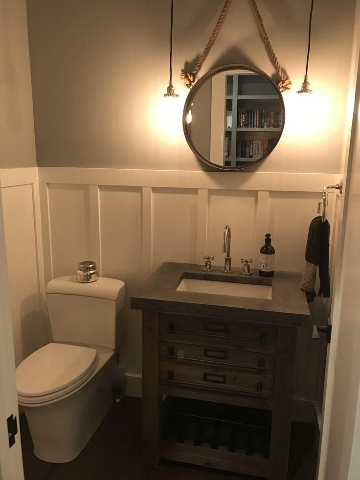 Small bathroom DIY concrete vanity top