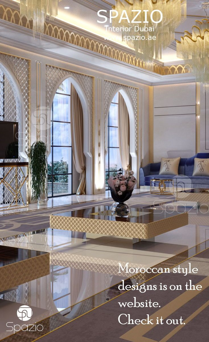 Moroccan majlis interior design with white marble finishing and moorish decorative pattern and elements get more moroccan interior design ideas and
