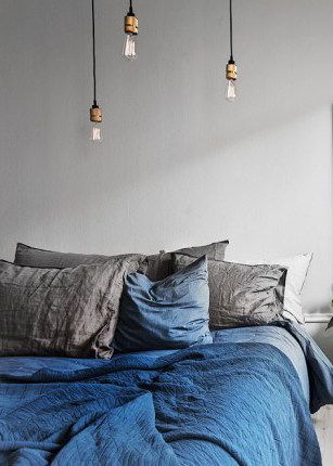 Grey with a touch of blue - via cocolapinedesign.com