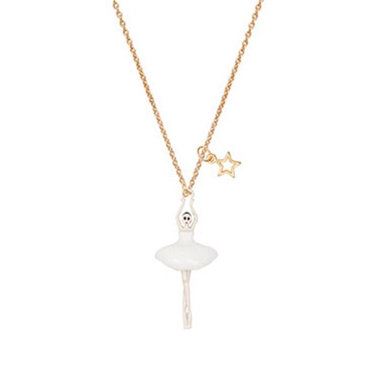 Kids Necklace  .  Ballerina  .  White