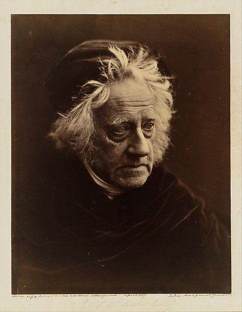 Sir John Herschel Julia Margaret Cameron  (British (born India), Calcutta 1815–1879 Kalutara, Ceylon) Date: April 1867