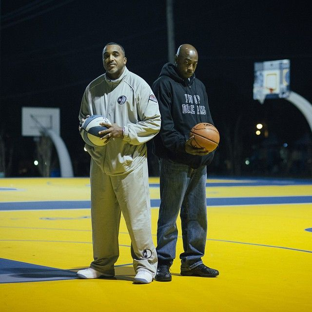 "William Gates and Arthur Agee of ""Hoop Dreams,"" twenty years later. Great pic by Kevin Couliau (@asphaltchronicles on Instagram) #basketball #chicago #hoopdreams"