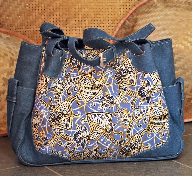 #bag #indonesia #batik When jeans and classic batik collide from Nyai . www.nyai.co