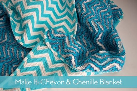 How to Make a Chevron and Chenille Blanket » Curbly | DIY Design Community