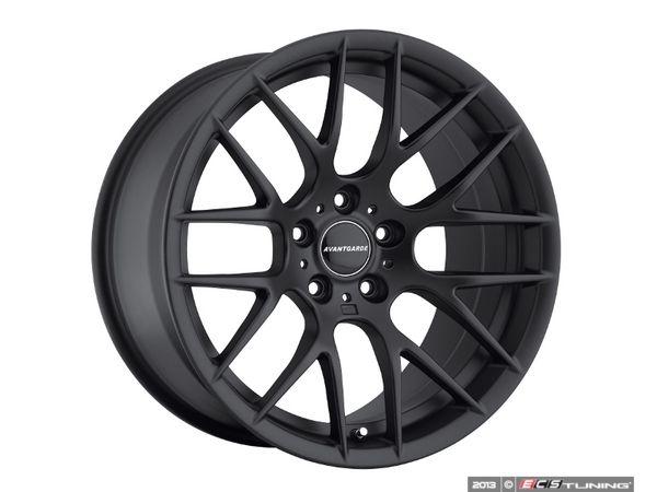 """ES#2642764 - M359KT2 - 19"""" M359 Wheels - Staggered Set Of Four - Matte Black - 19x9 5x120 ET35 72.6CB / 19x10 5x120 ET25 72.6CB - Avant Garde - BMW"""