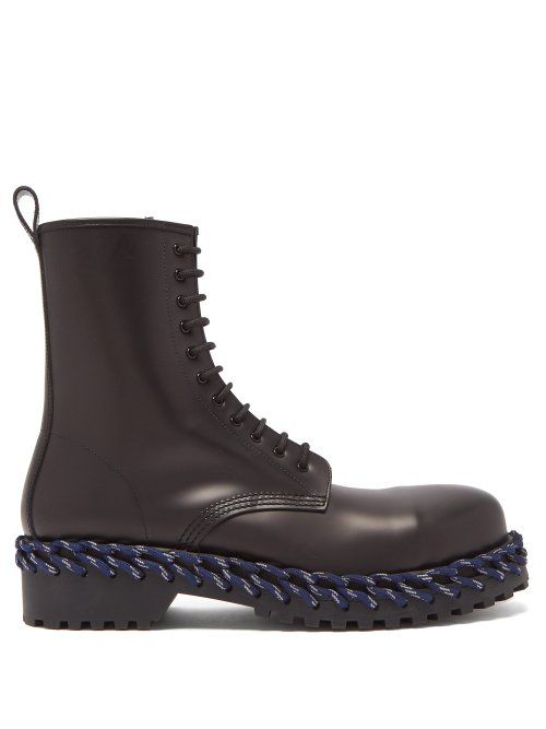 3759a9c77ae BALENCIAGA BALENCIAGA - LEATHER BOOTS WITH LACING DETAIL - MENS ...