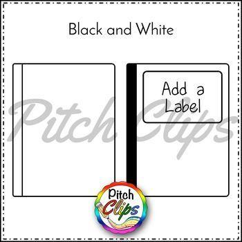 Composition Notebook Clipart (Clip Art) - FREEBIE Black ...