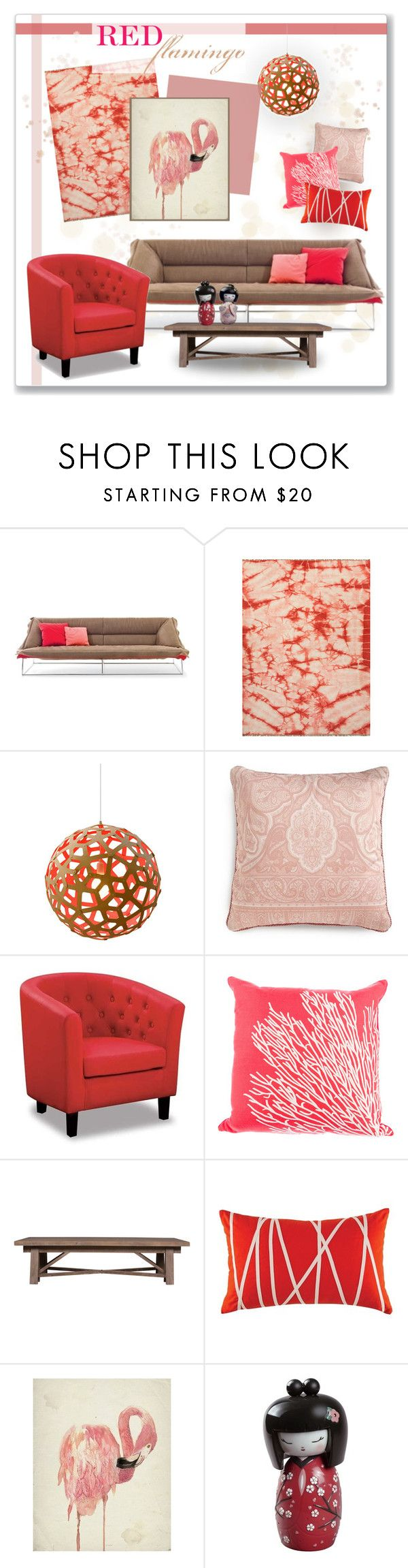 """Red Flamingo"" by c-silla on Polyvore"