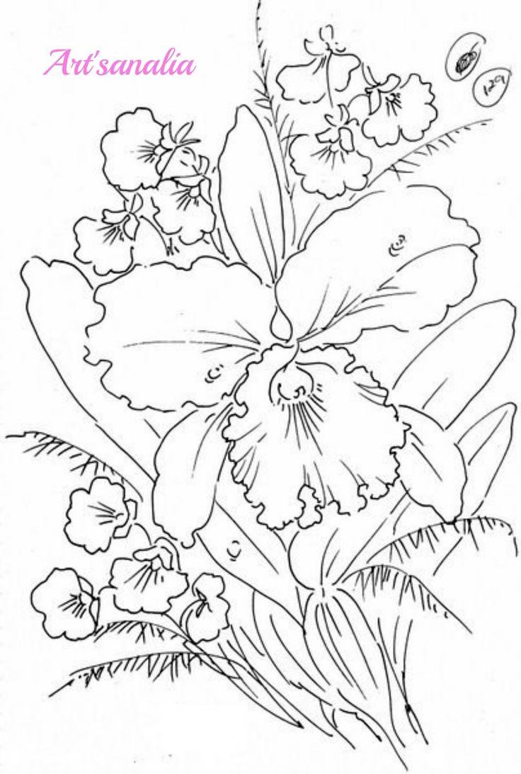 25 melhores ideias de Desenhos de flores no Pinterest  Desenhar