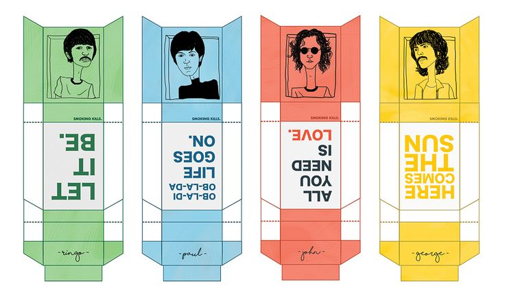 The Beatles Cigarette Box on Behance