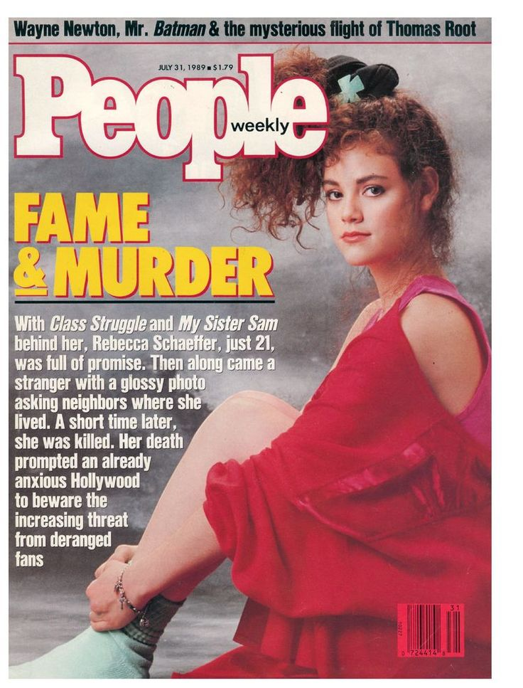 Rebecca Schaeffer She was shot dead on the pavement in front of her new apartment in Hollywood, by a paranoid schizophrenic man around her age, who came to her apartment disguised as a flower delivery man with a gun, most likely to save her from whatever delusions he had. Unfortunately, after signing an autograph for him twenty minutes earlier, she abruptly told him she was busy, he, in a fit of irrational anger, took the gun from the brown bag where he had carried it and shot her once in…