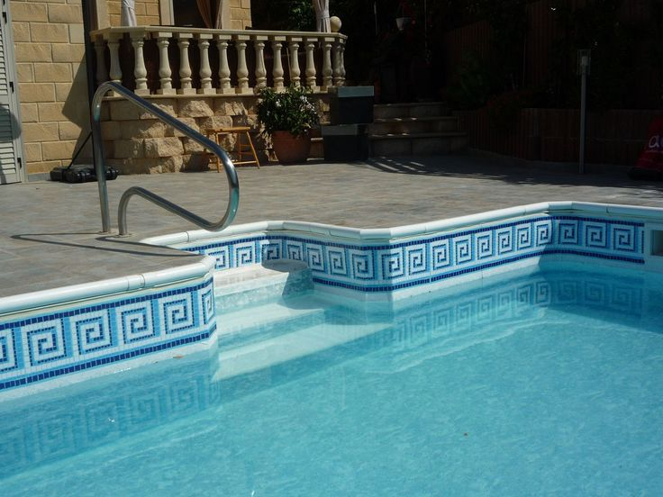 Swimming Pool With Roman Steps No Problem Self Adhesive Swimming Pool Borders Www