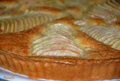 Crostata di pere e crema alle mandorle di Laura Ravaioli.