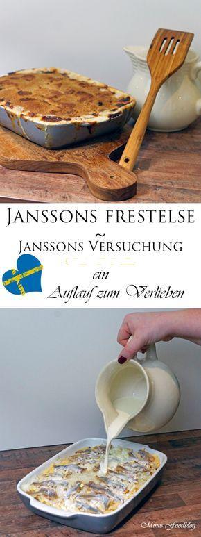 Janssons frestelse ~ Janssons Versuchung ist ein schwedischer Auflauf mit Anchovifilets. Er wird in Schweden gerne an Weihnachten gekocht.