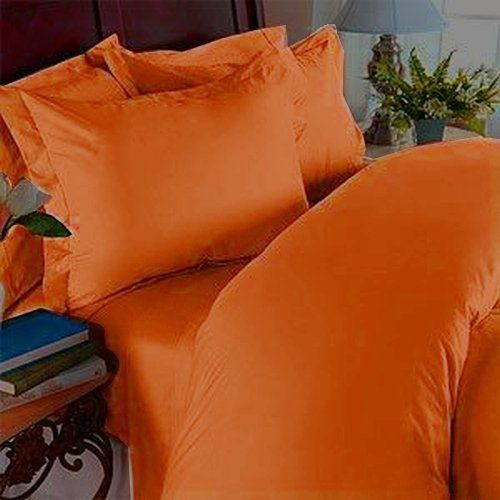 Elegance Linen 1500 Thread Count Wrinkle Resistant Ultra Soft Luxurious Egyptian Quality 2-Piece Duvet Cover Set Twin/X-Large Elite Orange