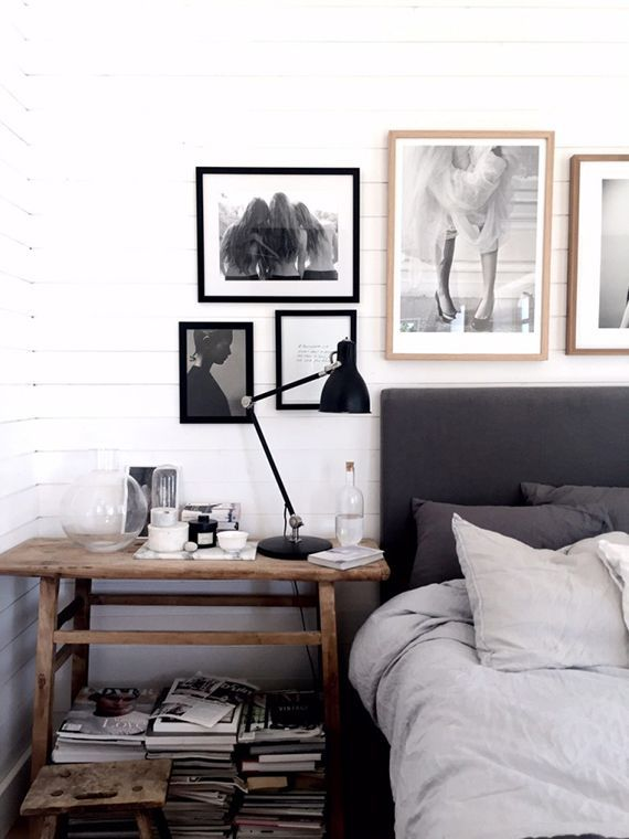 Scandinavian bedroom with gorgeous art by Pella Hedeby                                                                                                                                                                                 Más
