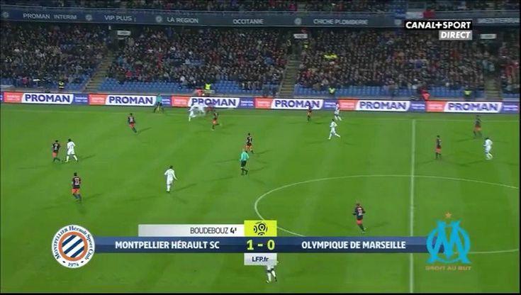 Les buts Boudebouz Montpellier v Marseille (OM) 2-0 / Mi-temps