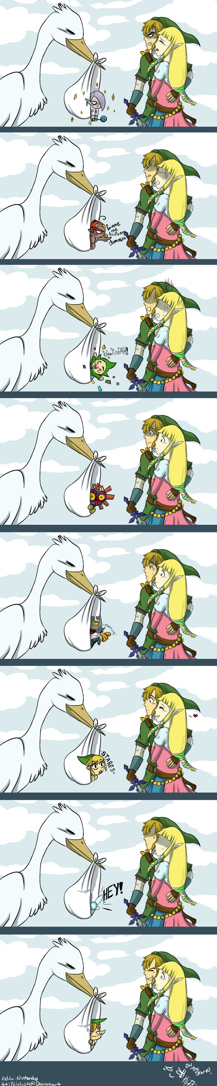 The stork, The Legend of Zelda series artwork by Kilala04.