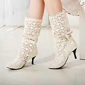 Chunky Heel Mid-calf Boots With Bowknot(More ... – USD $ 29.99