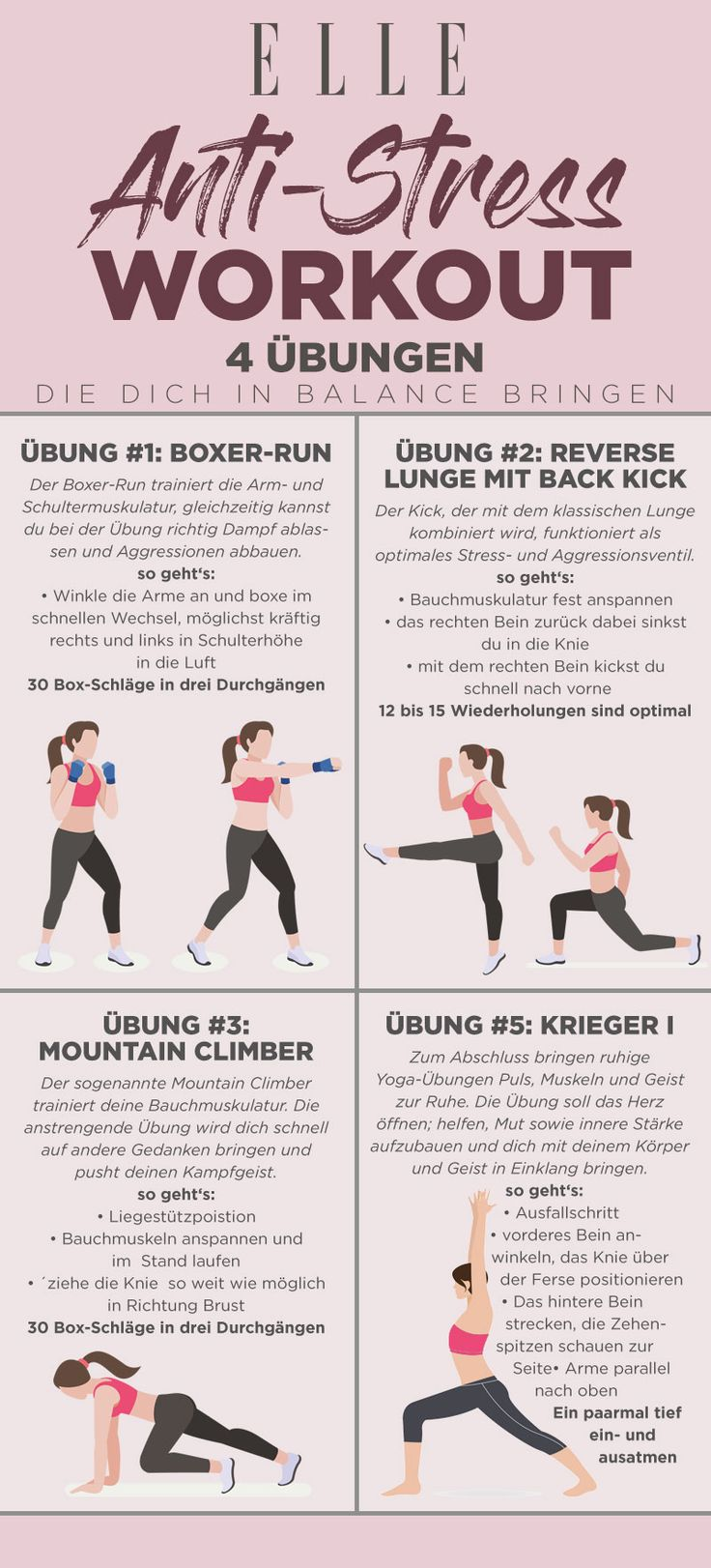Anti-Stress-Workout: 5 Fitness-Übungen für innere Balance
